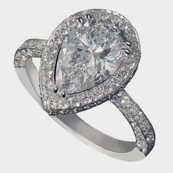 Genuine Natural Designer Engagement Rings With Small Beads Jewelry Pictures