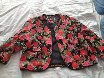 Primark Dark Floral Rose Blazer/Jacket - £21