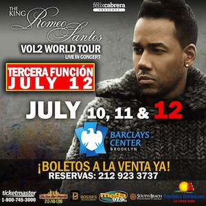 ROMEO SANTOS BARCLAY CENTER