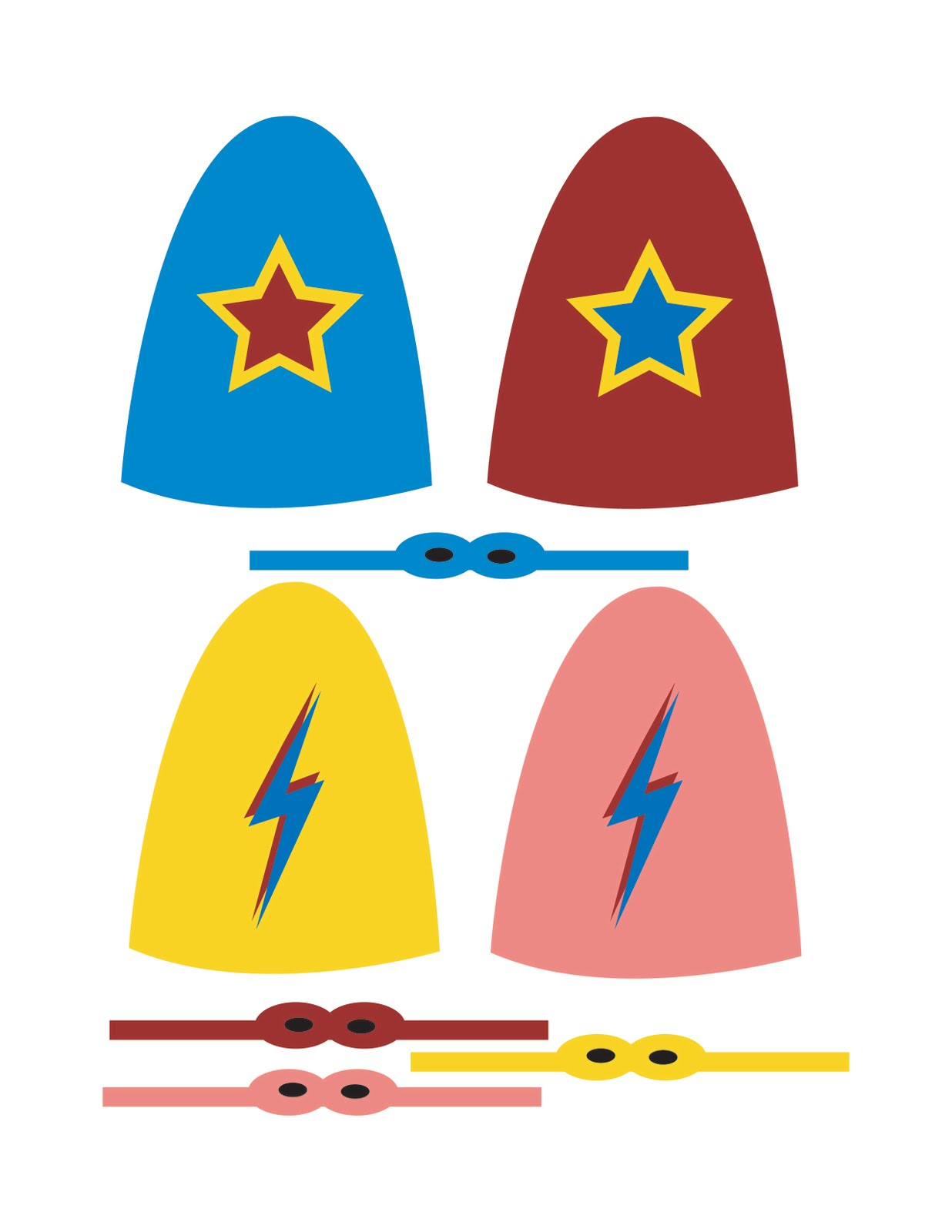 New Superhero Lollipop Templates