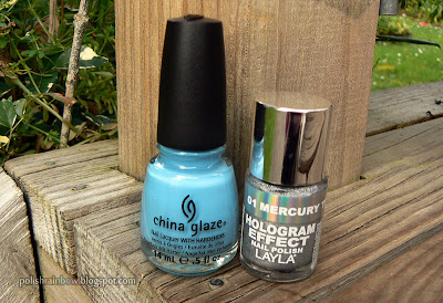 China Glaze Bahamian Escape. Layla Mercury Twilight.