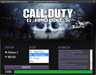 Call of Duty Ghosts Key Generator (Free CD Keys)