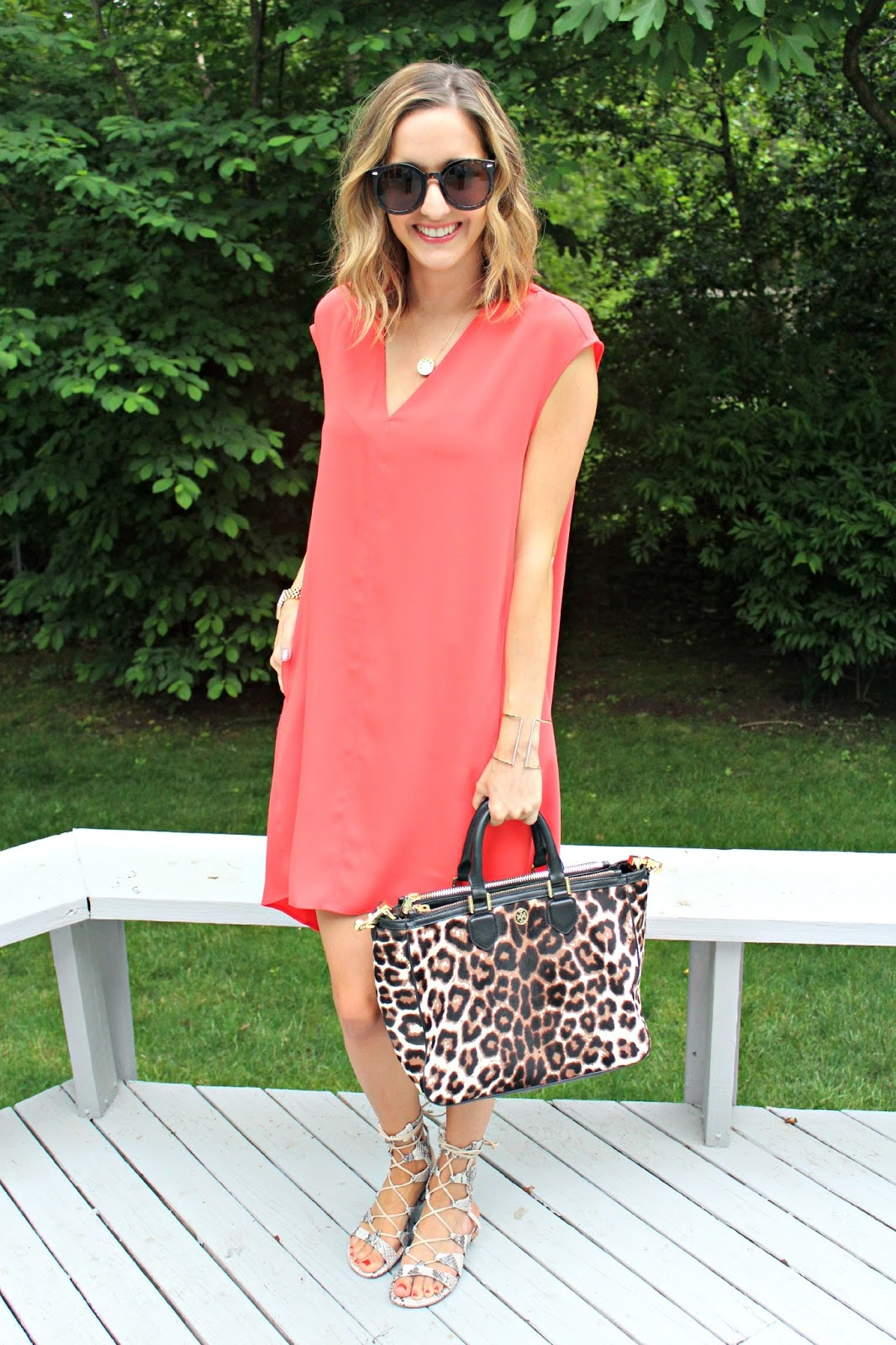 tory burch leopard tote bag