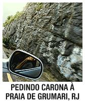 Pedindo carona à praia de Grumari, Rio de Janeiro