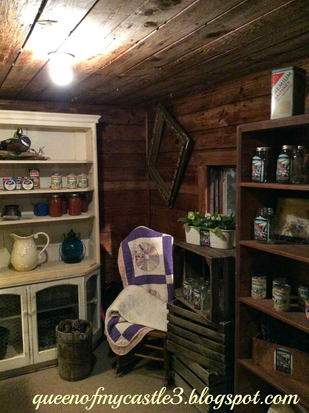 Inside of Shed