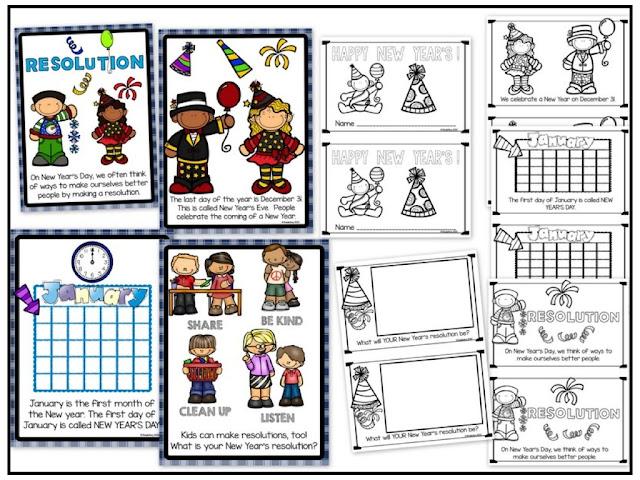 https://www.teacherspayteachers.com/Product/Happy-New-Year-Resolutions-For-Little-Kids-2277878