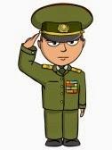 Chiste de militares, tropa, descansando, sargento, soldado, bruto, enérgico.