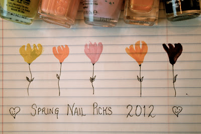 spring nail polish picks 2012 essie opi