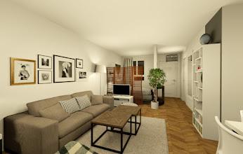Appartement espace ouvert tons neutres