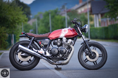 "Honda CB 750 Custom ""Red Sun"" by 7seven Custom"