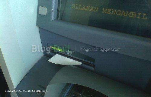 Gambar Ambil Struk ATM BCA