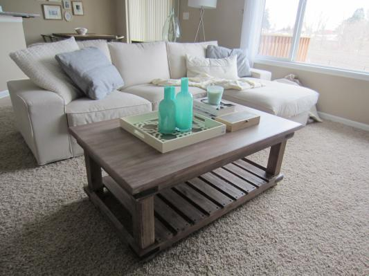 gray rustic coffee table 2