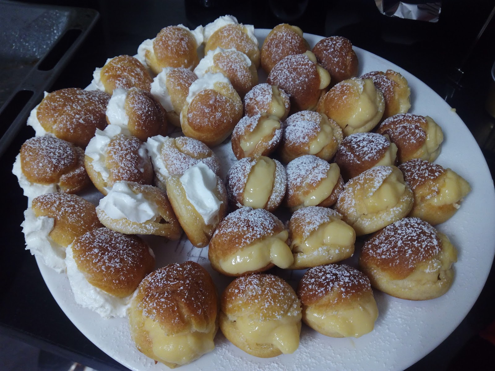Cocina con rachel profiteroles de crema y nata - Racholas cocina ...