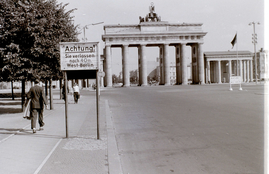 vintage berlin this view is looking into east from the western sector border lies 40 metres past notice despite what was commonly thought map