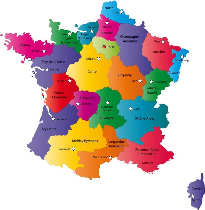 Carte France Département Région | Carte France Département Région