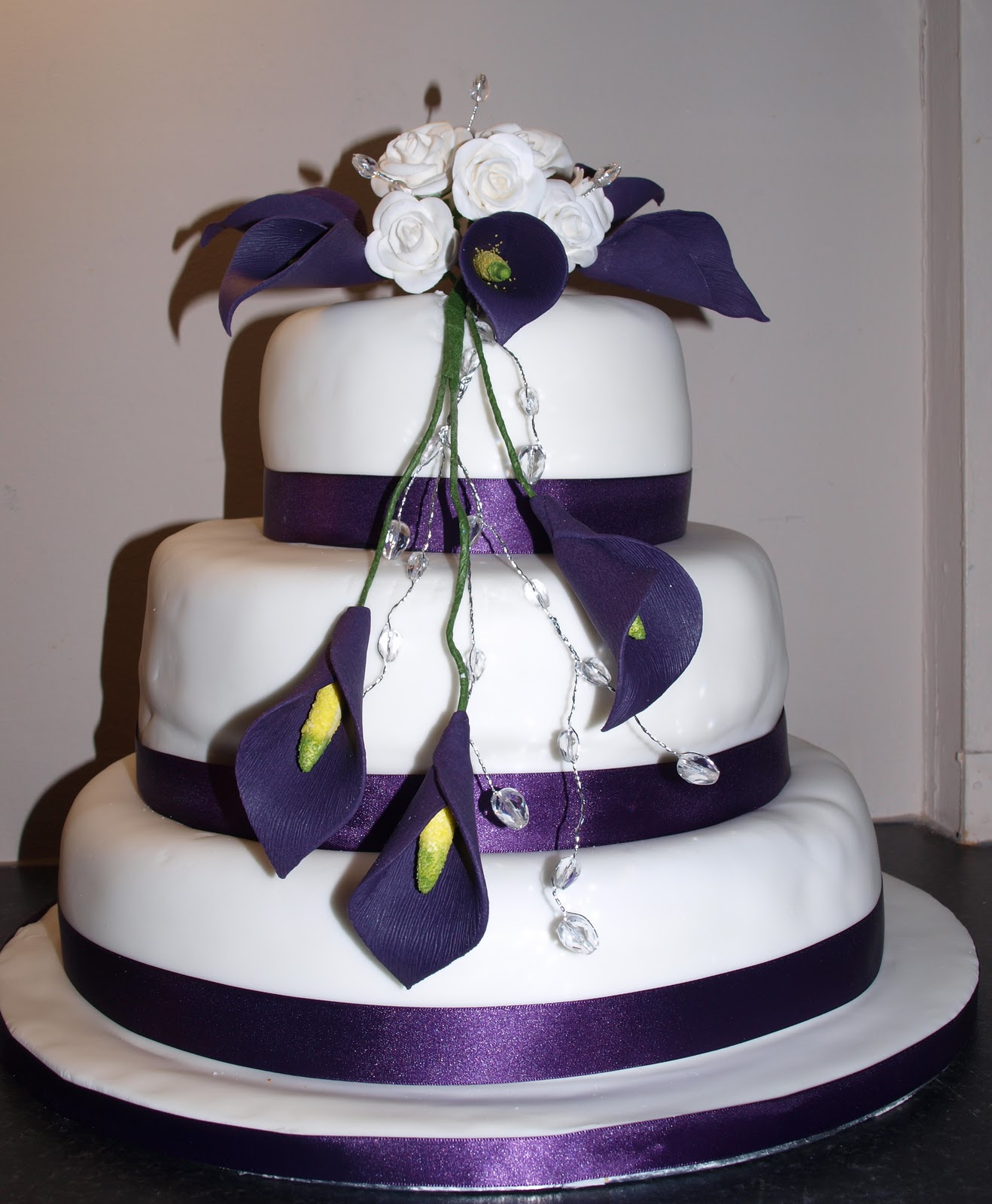 Purple Calla Lilies Wedding Cakes for Pinterest