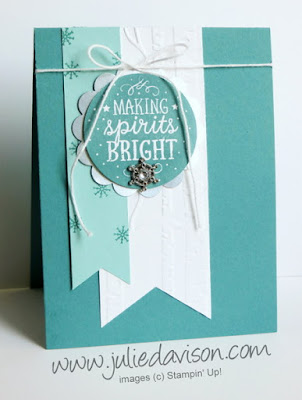 Stampin' Up! Among the Branches Winter Christmas Card #stampinup www.juliedavison.com Holiday Catalog