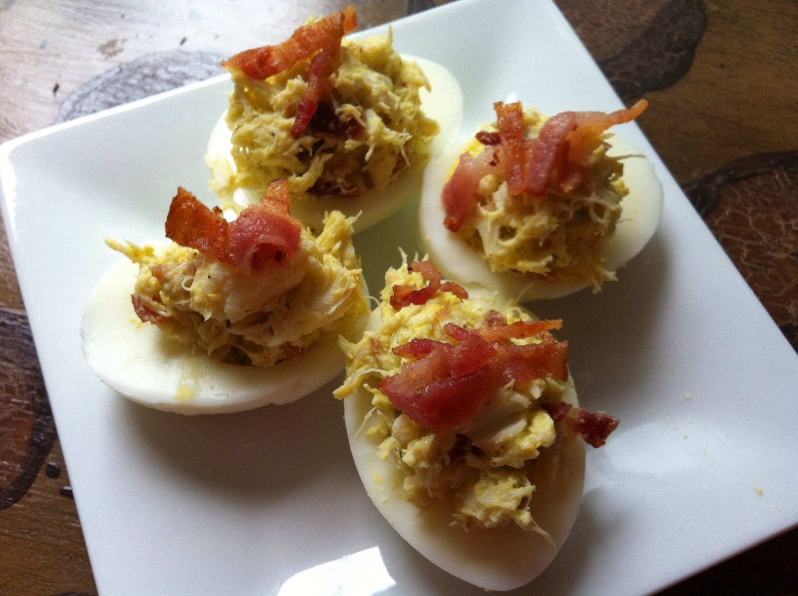 as good as bread: Crab & Wasabi Deviled Eggs