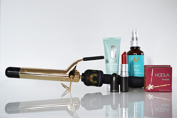 Hot Tools Lockenstab MAC Russian Red Moroccanoil Glimmer Shine Spray benefit Hoola