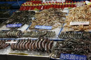 Kalamarkkinoilla Soulissa