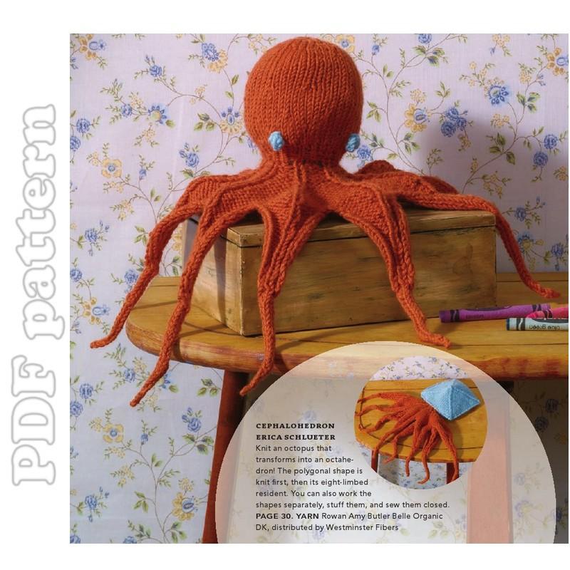 Octopus Knitting Pattern : Octopus Plush English Knitting Pattern PDF CraftyLine e-pattern shop