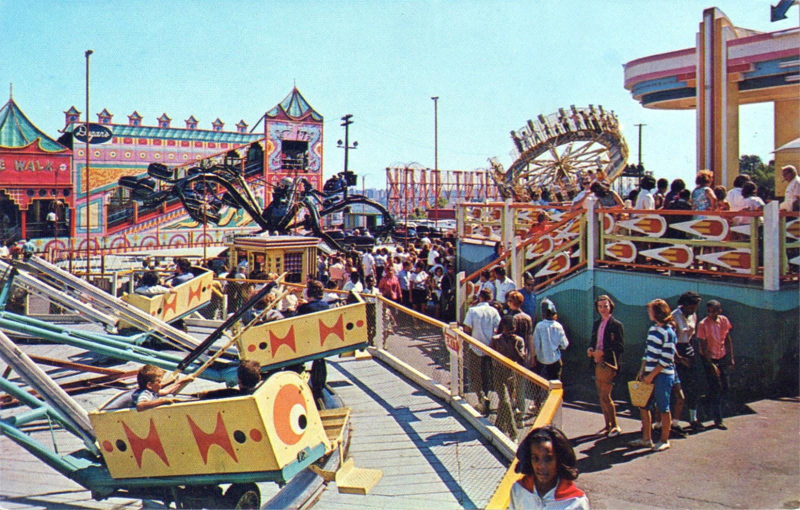 Palisades amusement park midway new jersey