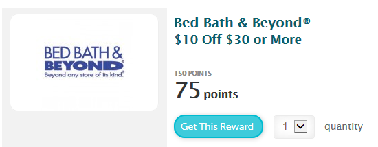 wny deals and to dos bed bath beyond 10 off 30 purchase coupon now only 75 recyclebank. Black Bedroom Furniture Sets. Home Design Ideas