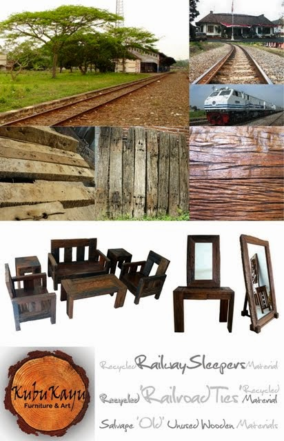 Recycled Railroad Tie Furniture