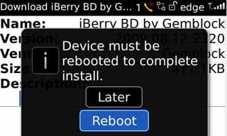 Langkah 3 Install Tema BlackBerry via OTA