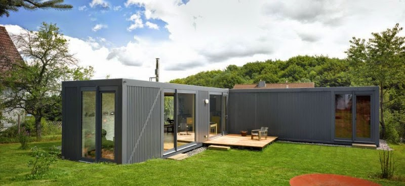 shipping container house in germany small kitchen design ideas. Black Bedroom Furniture Sets. Home Design Ideas