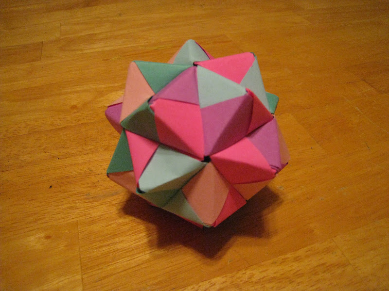 How To Make A Sonobe Small Triambic Icosahedron Modular Origami Tutorial