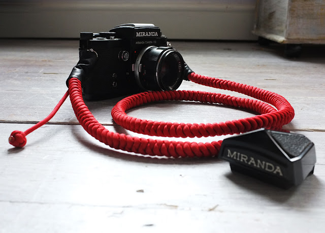Miranda F Camera with Red Bespoke Strap - Tim Irving