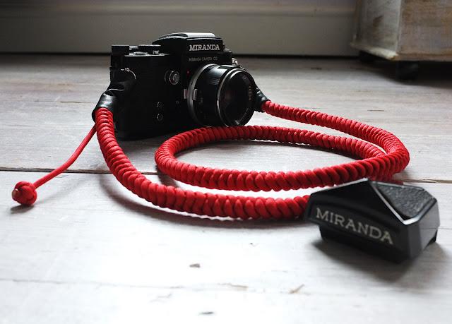 Miranda F Camera with Red Bespoke Strap - Tim Irving