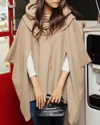 ladies designer hooded wool shawl