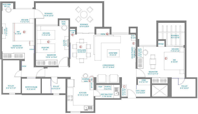 Apartment Living Room Furniture Layout