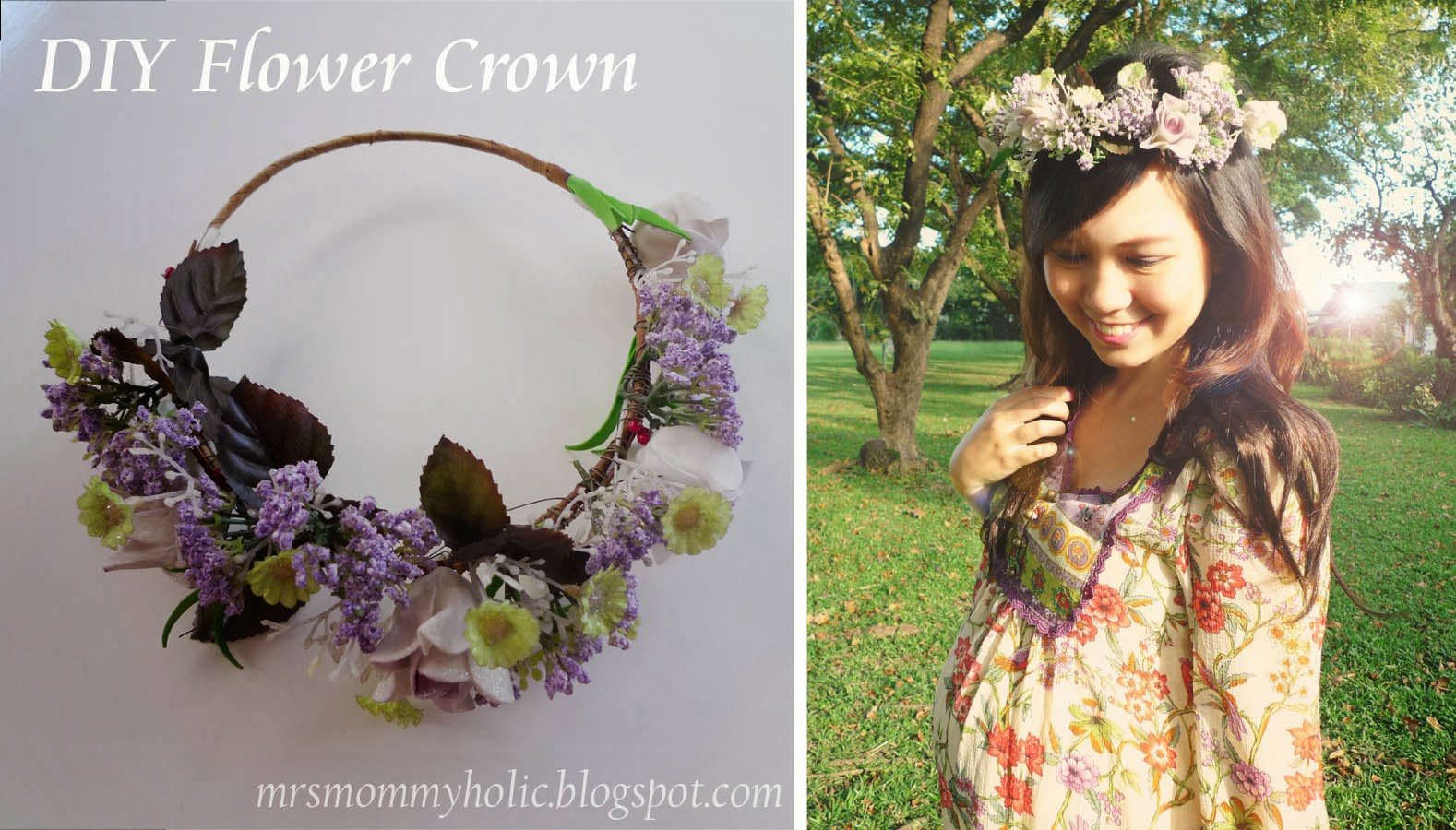 Mrsmommyholic diy flower crown to wear a flower crown for that boho free spirited look luckily all the materials came together and i was able to make one which i completely love izmirmasajfo