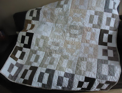 Bali Back Flip Quilt in beiges and browns
