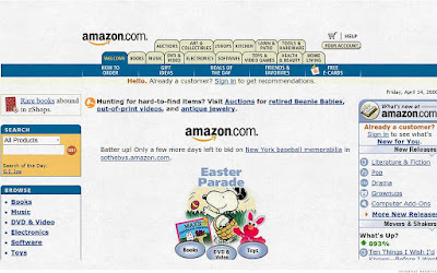 Inilah Tampilan Situs Populer 20 Tahun Yang Lalu - Amazon