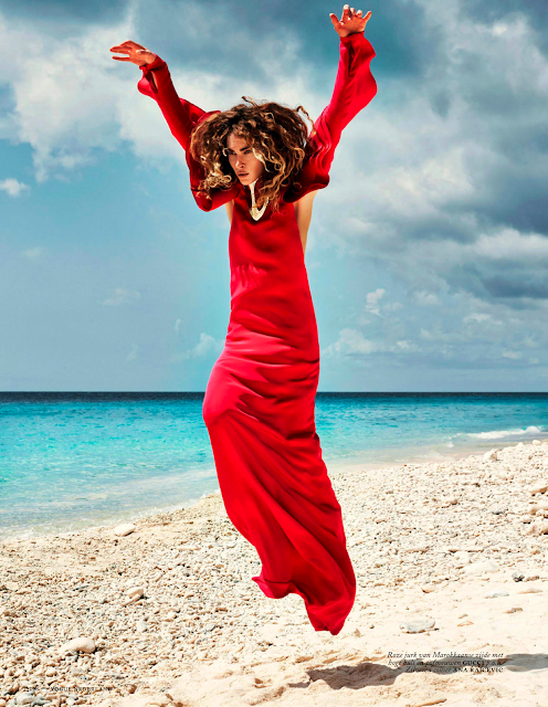 erin wasson for vogue netherlands may 2013 gucci beach red