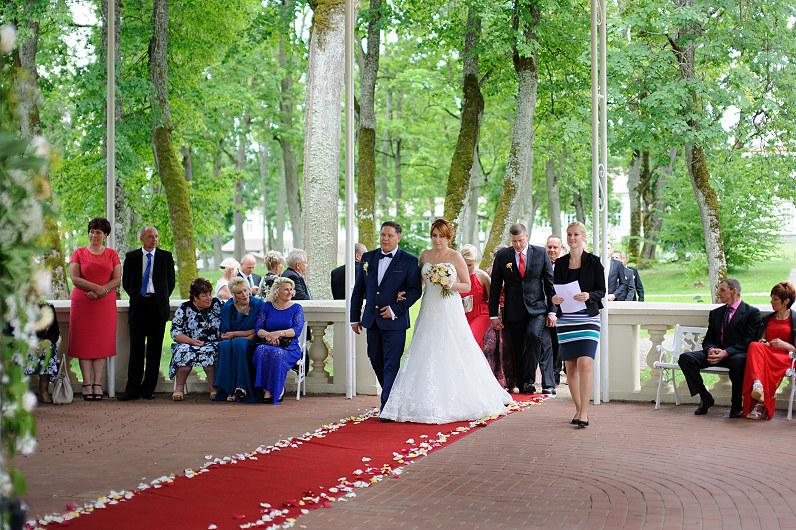 vestuvių ceremonija gamtoje
