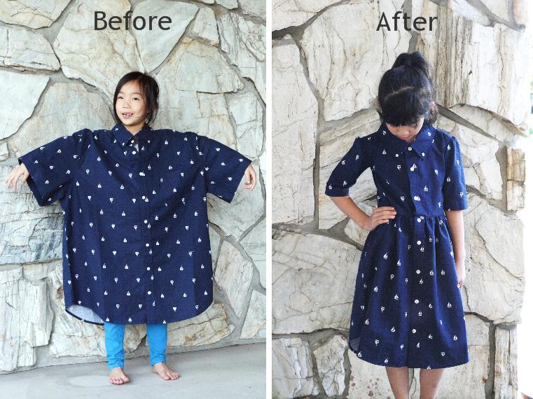Life is Beautiful: DIY: Men's XL shirt into a little girl ...