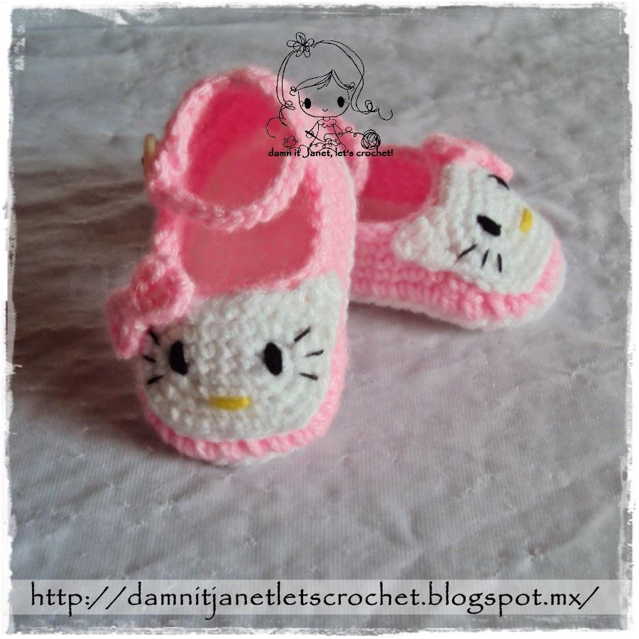 damn it Janet, lets crochet!: Hello Kitty Booties