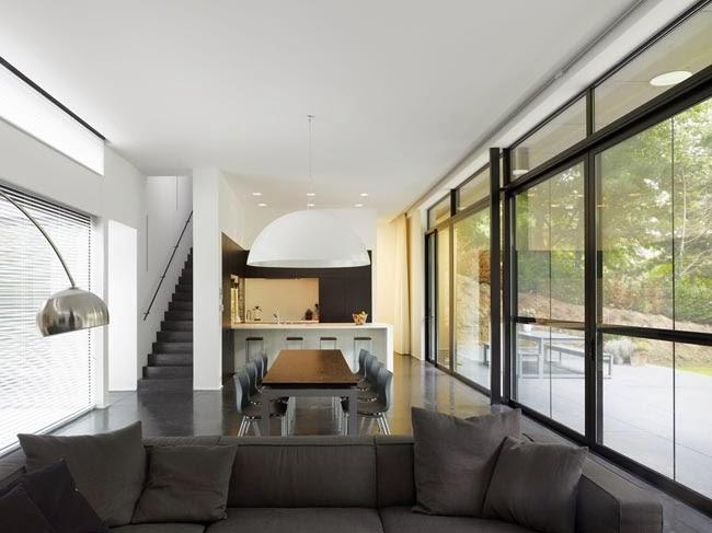 Casas minimalistas y modernas living comedor minimalista i for Casa minimalista living