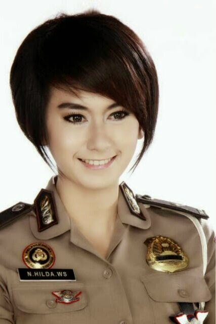 Foto Polwan Cantik Indonesia (Hilda Nurmala)