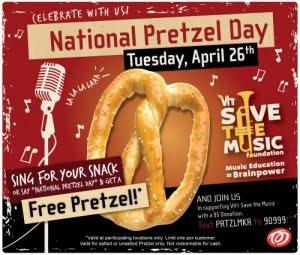 pretzel maker pretzels national birthday