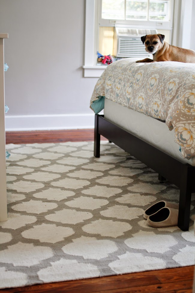 virginia and charlie bedroom lattice rug