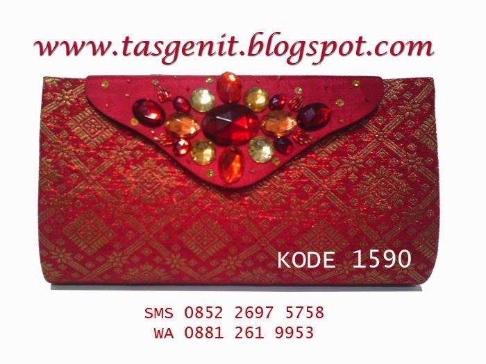 clutch bag songket, tas pesta cantik, dompet kondangan, tas pesta indonesia