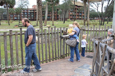 family at Disney's Animal Kingdom Lodge