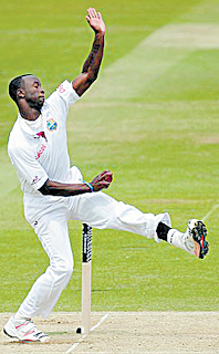 Kemar Roach Bowling Action