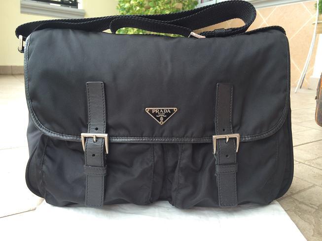 Authentic Prada Tessuto Nylon Cross Body Messenger Bag